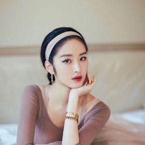 Yeni Varış Moda Çıplak Mektup Elastik Bandı Kadın Elastik Çift Hairband Geçiş Eğik Askı Etiketi Ve Filigran Ile 3 Renkler