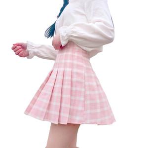Harajuku Donna Rock Indirizzo Gonne pieghevoli Mini uniformi scolastiche giapponesi Nizza Saia Faldas Signore Jupe Kawaii Rock Y19071301