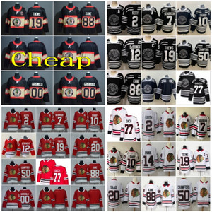 2020 Chicago Blackhawks Jersey 88 Patrick Kane 19 Toews 2 Duncan Keith 12 Alex DeBrincat 50 Corey Crawford Clark Griswold 00 jerseys del hockey