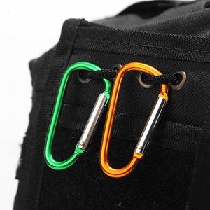 100pcs pression aluminium D-Ring mousqueton porte-clés porte-clés clip randonnée Camp Alpinisme Boucle Crochet Escalade Accessoires Voyage