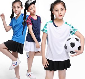 Kız tenis masculino forması, Çocuk tenis gömlek şort, masa tenisi gömlek, Çocuk Badminton T Shirt, polyester ping pong spor gömlek