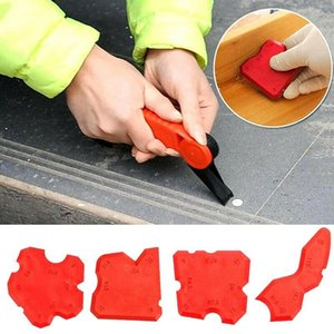 4Pcs Set Glass Glue Shovel Silicone Gel Squeegees Sealant Angle Corner Spreader Spatula Rubber Scraper Cement Residual Glue Squeegees