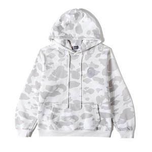 Осень зима нового Любителя Plus Velvet Черного Белый пуловер с капюшоном свитер подростковых Сыпучего Спорта Camo Hip Hop Camo толстовка