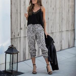 Frauen Capris Laterne Pants Womens Sexy Leopard-Druck-Hosen Damen Frühling lose mittlere Taillen-Kleid