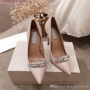 The latest Womens high-heeled shoes with pointed toes Solid color cowhide business dress, banquet and wedding stiletto heels