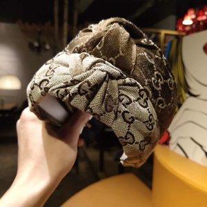 Designer heißen Verkaufs-Haar-Band-Brief Haarband-Frauen-Druck Stirnband Mode Haarschmuck Haarschmuck Retro Turban Headwraps