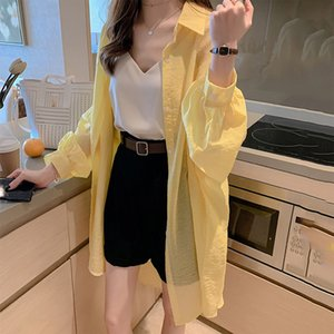 Spring Summer Yellow Women's Shirt Long Sleeve Button Office Lady Women Shirts Plus Size 2020 Casual Single Breasted Woman Tops