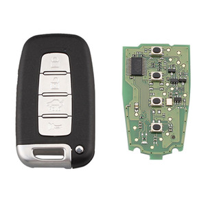 4 Düğme Akıllı Uzaktan Anahtar Anahtarsız Fob 433MHz İçin SY5HMFNA04 İçin Kia Forte Soul Rio Borrego Sorento Optima PCF7952 Çip