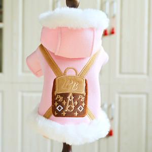 جديد الموضة والملابس الكلب الخريف الدافئة في فصل الشتاء هوديي ملابس للكلاب الصغيرة ثخن جرو طبقة دثار كلاب صيد تشيهواهوا الحيوانات الأليفة ملابس