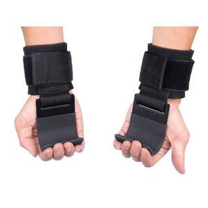 2PCS o levantamento de peso gancho aperto Wrist Straps Glove Halterofilismo Força Gancho Training Gym Fitness