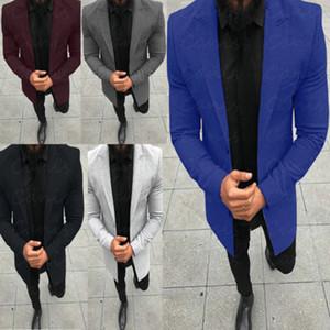 Lässige Stattliche Coat One Button Anzug 5 Farben Outwear Oversiaze Herren Jacken Tops Hots der neuen Männer Jacken Damenmode Fitness
