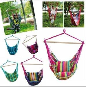 Hammock Rope Swing Seat Chair Home Bedroom Lazy Swing Chair Garden Hanging Cotton Rope Swing Chair Indoor Outdoor Fashion Hammock DHA350