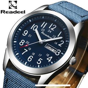 Readeel Luxury Brand Orologi Militari uomini di quarzo analogico Canvas Clock Man Orologi sportivi Army Military Watch Relogios Masculino SH190929