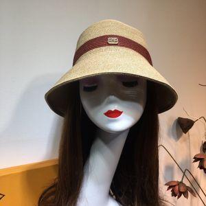 Straw Bowler-Hut faltbare Baumwolle und Leinen atmungs Fischer große Traufe Dame Sommer Strandurlaub Sonne