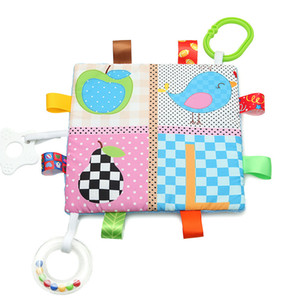 Bébé apaiser serviette saisir doux réconfortant poupée jouets pour bébé bébé serviette à la main hochet jouets douillette couverture en gros