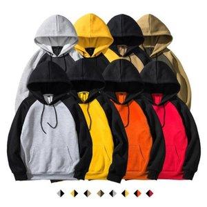 Конструктор толстовки Contrast вскользь толстовки унисекс куртки DIY Street с капюшоном пальто с длинным рукавом Мода Хип-хоп Outwear Перемычка пуловер C6473