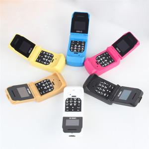 Más pequeños LONG-CZ J9 Flip Teléfonos celulares Inalámbrico Bluetooth Marcador de manos libres BT música FM Radio SOS mini niños Niños teléfonos móviles