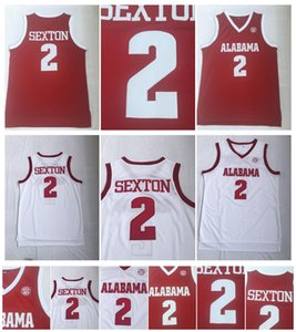 Collin 2 Sexton Jersey Alabama Crimson Tide College Jersey Белый Красный NCAA Баскетбол Джерси Сшитые И Вышивка Спорт Хорошее Качество!
