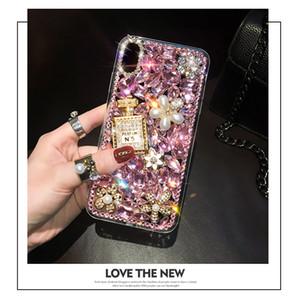 고급 3D 다이아몬드 커버 아이폰 (12) 2020 SE를 들어 아이폰 (12) 미니 (11) 프로 맥스 X XS 최대 XR 8 7 6S 플러스 다이아몬드 향수 병 케이스