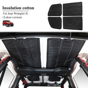 Coche negro Headliner Aislamiento térmico de algodón techo sólido de algodón para Jeep Wrangler JL 2018 UP 2door