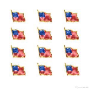 2019 Heißer Verkauf Die Flagge der Vereinigten Staaten Revers-Stifte Kleine Emaille USA Amerikaner Flagge Abzeichen für Männer Tie Hut Rucksack Pins Jacke
