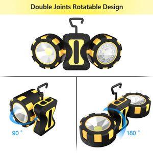 Tragbares LED Scheinwerfer 8 Modi Spotlight Wasserdichte LED-Arbeitslicht Gebrauch 6 * AAA-Batterie USB nachladbar für Jagd Camping