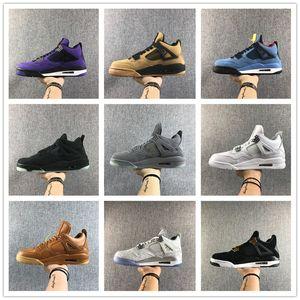2020 migliori nuovi 4 pattini IV OG Nero Rosso Low pallacanestro degli uomini Bred Sport Sneakers Maschio 4s Formatori esterno superiore Dimensione 7-13