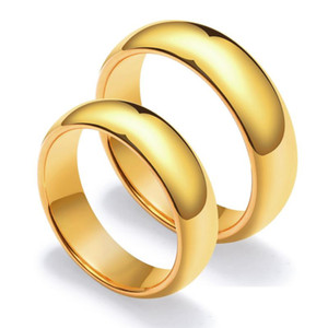2019 new Advanced fashion classic simple couple ring tungsten steel smooth curved men's women's ring fashion jewelry wholesale