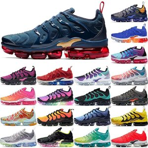 2020 New Vapors TN Plus Midnight Navy Lemon Lime Silver USA Mens Women Running Shoes Designer Sports Sneakers Mens Trainers Airs Size 36-45