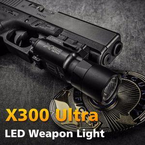 Yüksek Çıkış Taktik X300 Ultra Tabanca Gun Işık X300U Silah Işık Lanterna Fener 1911 Tabanca Işık 500 Lümen