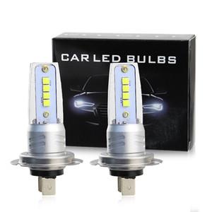 2pcs H7 car led fog light 3030 8led auto led bulb 12v 8w 6500k white color lamp