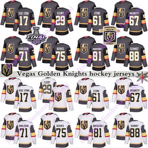 Hommes Femmes Enfants 2019 Jersey Golden Knights Vegas 29 Marc Andre Fleury 61 Mark Stone 75 Ryan Reaves 71 William Karlsson maillots de hockey
