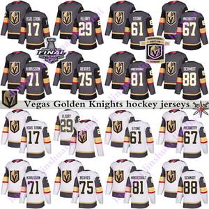 Herren Kinder Frauen 2019 Vegas Golden Knights Jersey 29 Marc Andre Fleury 61 Mark Stone 75 Ryan Reaves 71 William Karlsson Eishockey Trikots