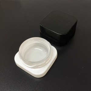 Wholesale 5ml Cube Glass Jar with Child Resistant Lid Premium Square Glass Concentrate Jar Thick Oil Dab Container