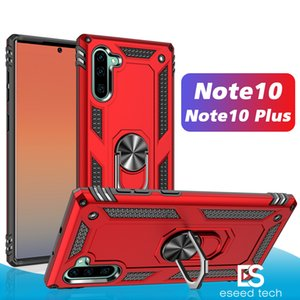 Para Samsung Note10 S10 Plus A50 A70 Híbrido resistente a prueba de golpes Armor Stand Case para iPhone 11 Pro Max Metal Ring Magnetic Car Holder Cover
