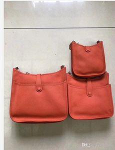 22best bolsos Evelyn geninue de lujo bolsa de cuero de las mujeres de la calidad de Togo clásico bolso de la señora del diseñador del hueco hacia fuera bolsas de piel de becerro h