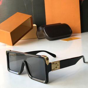 Marco Flat Top de gran tamaño cuadrado de gafas de sol clásicas polarizadas Mujeres gradiente de la manera Gafas de sol retro de los hombres grandes azules de la vendimia Eyewear UV400