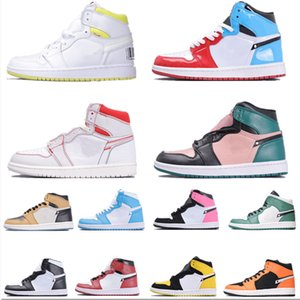 Nouveaux 1 High OG Bred Toe Chicago Banned Royal Game de basket-ball Chaussures Hommes Chaussures 1s baskeball Multicolor Sneakers sport Designer Shoes