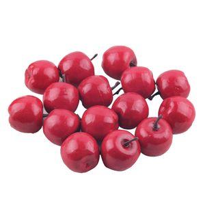 40pcs Mini Elmalar Köpük Yapay Meyve Simülasyon Sahte Ev Düğün Dekor Yapay Mini Elmalar