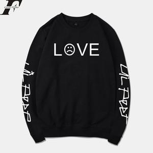 2018 Lil Peep Bahar Kapüşonlular Erkek / Bayan Kazak Streetwear Moda R.İ.P Eşofman Gevşek Hoodie Kazak Unisex kıyafet