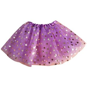 Baby Girls Dance Costume Skirt Party Princess Ballet Gold Point Tulle Tutu Skirt