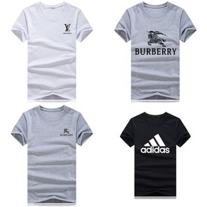 Carta de Verão Imprimir Camiseta Homens Camiseta de Algodão Mistura Top Tees de Manga Curta Casual T-shirt T-shirts para Designer de Camisetas de Luxo Hip Hop