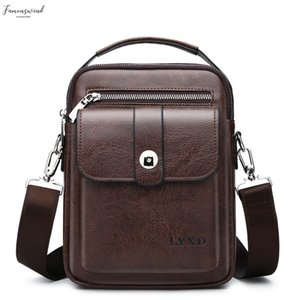 Style Mens Pu Business Travel Messenger A Variety Of Styles Solid Color Simple And Versatile Shoulder Bag Hot Sale