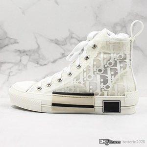19FW B23 Eğik 2020 Yüksek Düşük En Sneakers bağbozumu platformu oblikler Teknik Deri Ayakkabı Erkek Ayakkabı Bayan Yeni Moda Eğitmenler 36-44