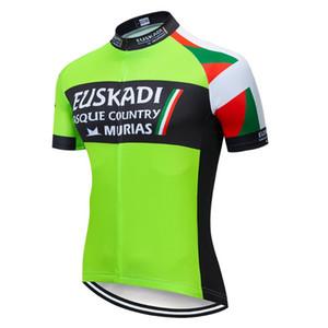 Pro Cycling Wear Bicycle Jersey breve ciclo della bici shirt manica Sport 2019 EUSKADI Uomo Ropa Ciclismo abbigliamento ciclismo