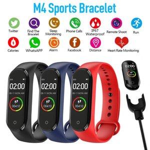 Intelligente braccialetto M4 Bluetooth Fitness Tracker per Iphone Android pedometro sport uomini e donne orologio arteriosa frequenza cardiaca pressione notizie spinta