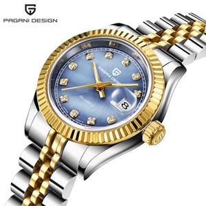 파가니 사파이어 톱 브랜드 명품 여성 손목 시계 스테인리스 석영 시계 현대 손목 시계 여성