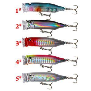 Büyük Popper Balıkçılık Lure 7cm 9.4g Yapay Sert Yem crankbait Wobblers Yüzer Plastik Balık Yüzme Sazan Pike