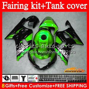Cuerpo + tanque para SUZUKI GSX R750 GSXR600 K1 verde caliente GSXR600 2001 2002 2003 65HC.113 GSXR750 GSXR 600 750 CC GSXR750 01 02 03 carenado kit