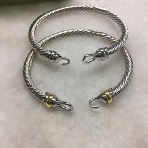 Cavo classico braccialetto fibbia europea e le signore popolari americane braccialetto d'ottone placcato oro